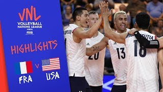 FRANCE vs. USA - Highlights Men | Week 3 | Volleyball Nations League 2019