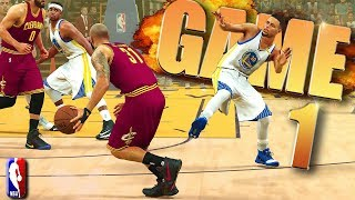 Golden State Warriors vs Cleveland Cavaliers NBA Finals Game 1 - NBA 2K17 Prediction