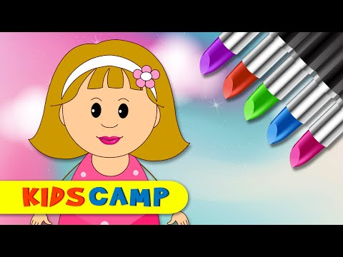 Let's Play With Color Lipstick | Elly Make Up Face | Finger Family Song by KidsCamp
