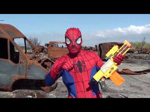 nerf-war-spiderman-apocalipse-epic-battle-fight-zombie-superheros-pdk-films-ltt-nerf-war-usa
