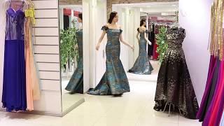 Çiçekli Askılı Balık Abiye Elbise Modalinepark