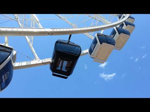 The VIP luxury gondola on the Seattle Great Wheel