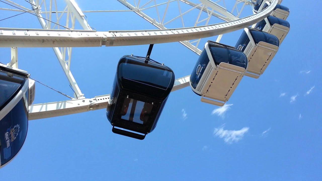 The VIP luxury gondola on the Seattle Great Wheel - YouTube
