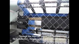 KMS-1400 FULL AUTOMATIC CHAIN LINK FENCE MACHINE TWISTER BENDING & COMPACT