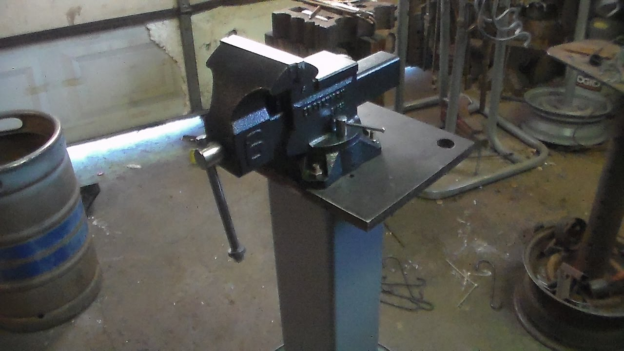 Upgrading The Vise On My Heavy Duty Shop Made Vise Stand