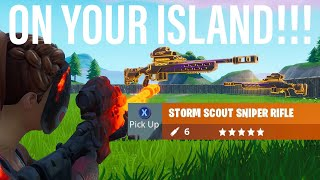 Get *UNRELEASED* STORM SCOUT SNIPER EARLY on Your Own Island!! Fortnite 9.40