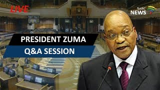 President Zuma answers oral questions in Parliament thumbnail