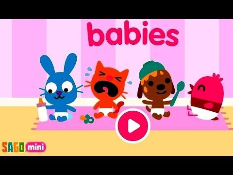 Sago Mini Babies | Sago Mini Малыши - Развивающий мультик (ИГРА) | Childrens cartoon game