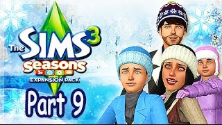 Let's Play: The Sims 3 Seasons - (Part 9) - First Snow Fall