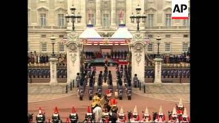 WRAP Bush and Royals arrive for ceremony at Buckingham Palace