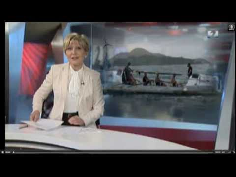 Icelandic TV 2 news, 3rd and 4th Oceanrowing world records, rowing across Indian Ocean