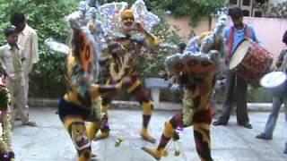 Puli Vesham -1 @ Home Vizianagaram (Tiger Dance)