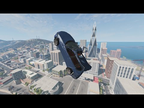 Throwing Cars Into The City || BeamNG.drive Compilation