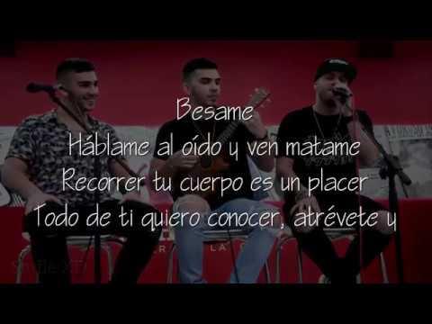 BESAME  |  MANUEL TURIZO & VALENTINO( LETRA)  ( version acustica )