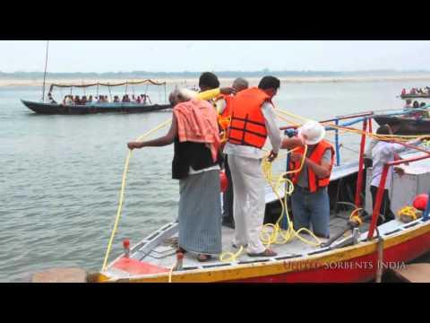 Namami Gange  Containment Boom at Varanasi