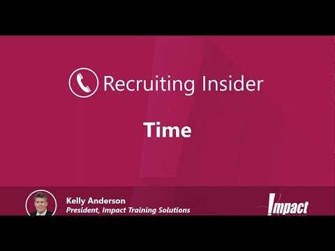 Recruiting Insider #17 - Time Management