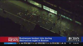 Boston Police Remain On Scene After Protests Near Boston Common