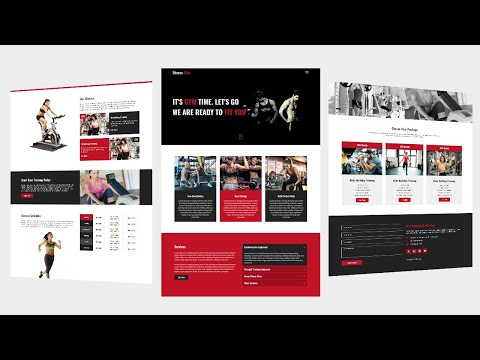 #2 Fitness & Gym  Complete  Website Template Using By  Html Css
