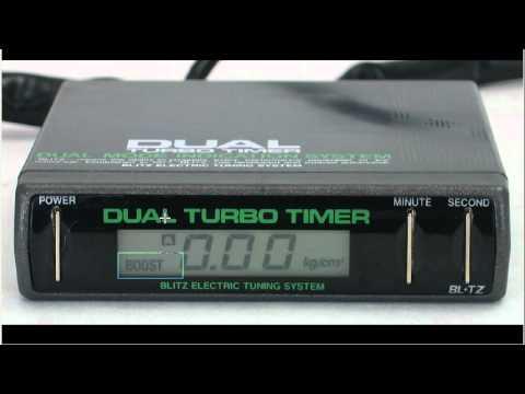 BLITZ DTT Dual turbo timer + Boost gauge - YouTubeYouTube