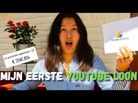 MIJN EERSTE YOUTUBE LOON 💰 Kleine YouTuber (1.8k abonnees)