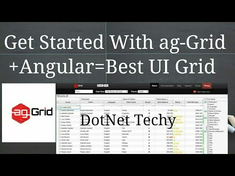 How to use ag grid in angular 6