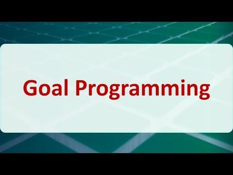 04G - Goal Programming