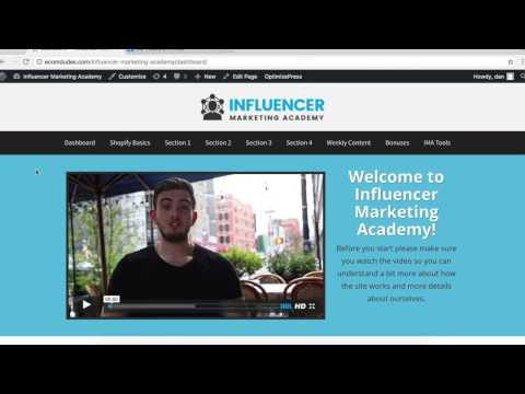 "Influencer Marketing Academy Review, ""DEMO"" - By Dan Dasilva"