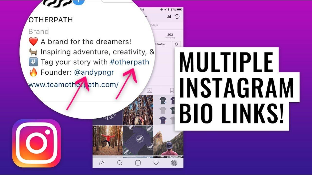 How to Add Username & Hashtag Links to Instagram Bio
