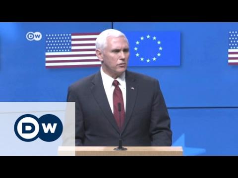 Pence visits EU headquarters | DW News