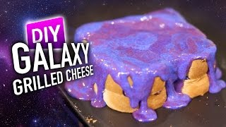 DIY GALAXY Grilled Cheese *MIRROR CHEESE GLAZE*