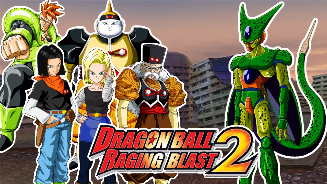 Dragon Ball Raging Blast 2 Cell Vs Androides C16 C17