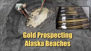 Alaska Beach Prospecting - LOTS of FINE Gold