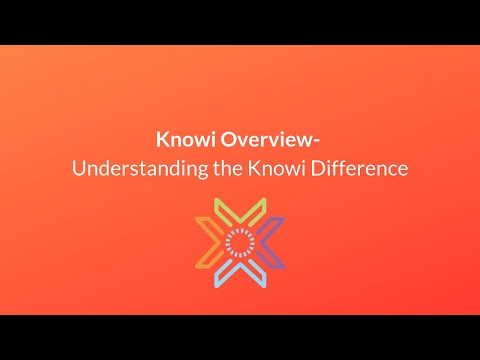 Knowi Overview- Understanding the Knowi Difference
