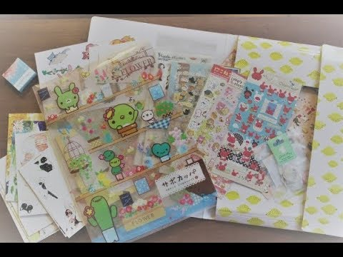 Sticker and stationery collection ASMR (no talking)