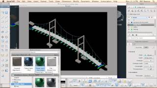 AutoCAD 21 for Mac - applying materials and rendering