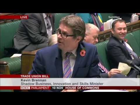 Kevin Brennan MP: Leading for the opposition on the remaining stages of the Trade Union Bill