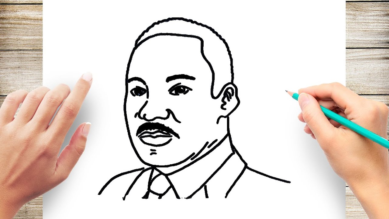 How To Draw Martin Luther King Jr Step By