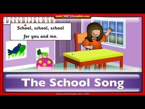 School song. Learn English with teachkidsenglish.com