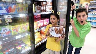 Heidi التظاهر اللعب التسوق بقالة للأغذية الصحية   Heidi و Zidane