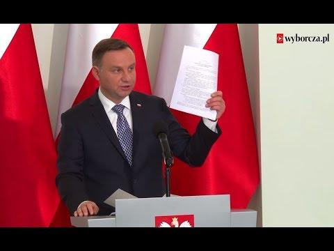 Prezydent Andrzej Duda. Oświadczenie ws. Sądu Najwyższego i KRS