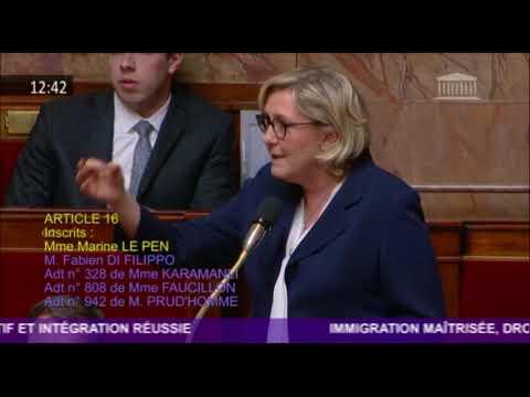 Marine Le Pen dénonce la fumisterie que constitue le projet de loi Asile et Immigration