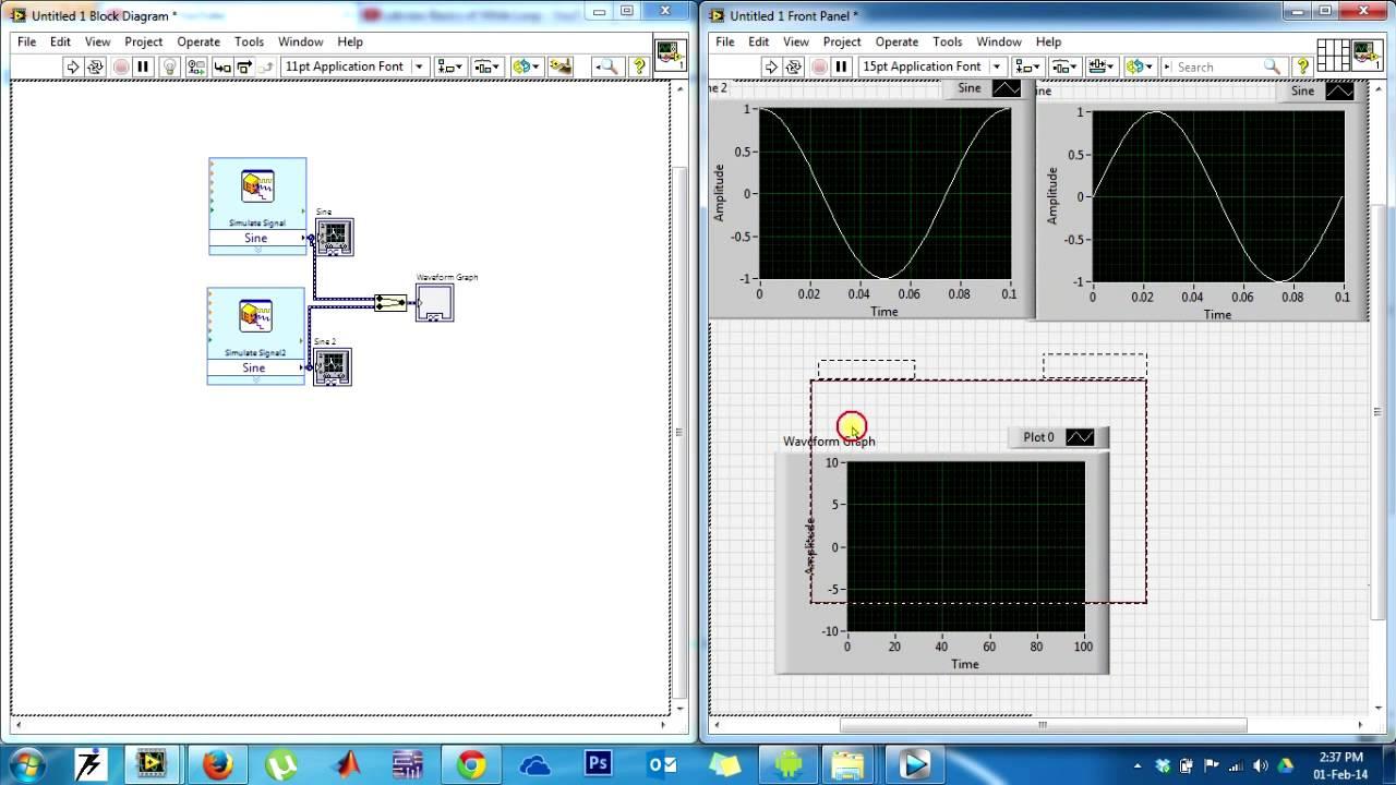 Labview Generate Sine Waveform