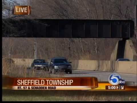 Teens find human foot in Sheffield Township