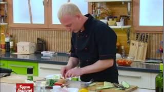 Будет вкусно! Гороховый суп с копченой рыбой. Красный окунь. Салат из нута и авокадо.Gubernia TV