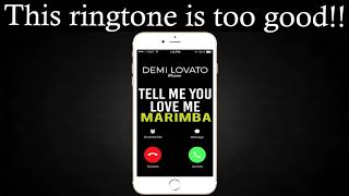 "Enjoy marimba remix of the latest song ""tell me you love me"" by demi lovato as your ringtone: http://smarturl.it/tellmeyoulovememnd best iphone ringtone t..."