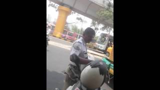 #Hebbal traffic police being rude, after paying the fine.