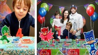 Baixar ANIVERSÁRIO DE 4 ANOS DO MARCOS!! 🎉 Festa do PJ Masks 🎁 Parabéns Marcos!