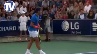 Rafael Nadal Stops Tennis Match as Distraught Mother Looks for her Little Girl Lost in the Crowd