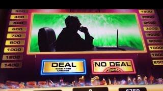 DEAL or NO DEAL- Las Vegas Slot machine MAX BET Briefcase BONUS WIN (NEW GAME)