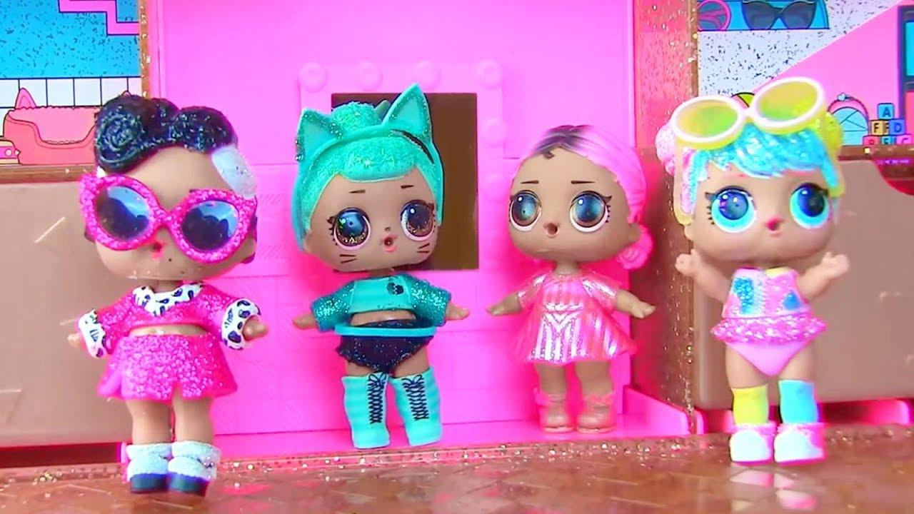 мирное, ютуб кукла лол блестящие мебель